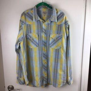 LUCKY BRAND Western Snap Plaid Shirt